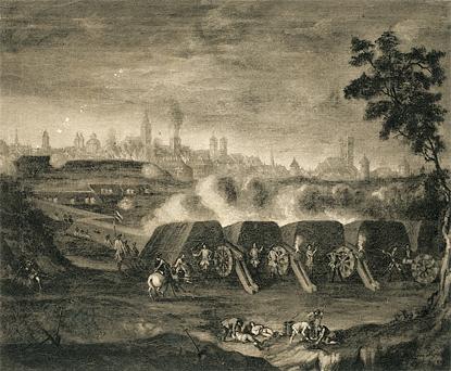 Beschießung Münster 3.9.1759 - Ölgemälde